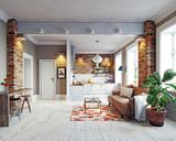 modern apartment interior - 180600676