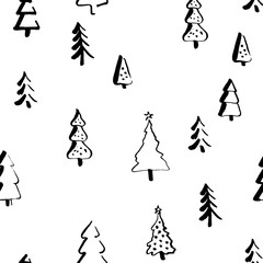 Scandinavian seamless pattern of Christmas