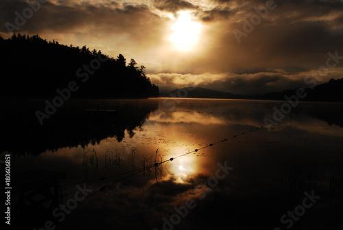 Papiers peints Morning Glory Paradox Lake NY sunrise