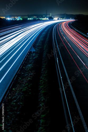 Foto op Aluminium Nacht snelweg Highway lights
