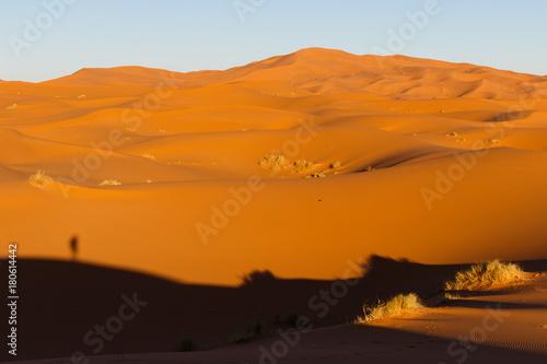 In de dag Oranje eclat Marokkos Wüste