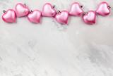 Pink Heart-shaped Christmas ornaments