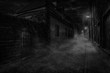 Nighty foggy lane - 180623479