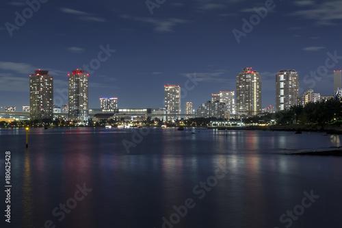 In de dag Tokio Tokyo bay skyline