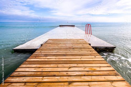 Fotobehang Pier modern jetty