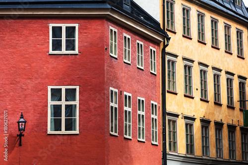 Aluminium Stockholm beautiful street of old Stockholm