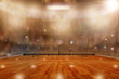 Basketball Arena With Special Lighting and Flashes in the Stands Plus Copy Space