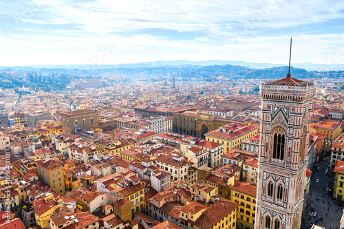 Papiers peints Florence panoramic views of florence medieval city, italy