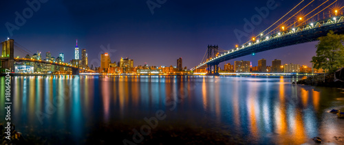 Plexiglas Brooklyn Bridge Brooklyn bridge & Manhattan bridge
