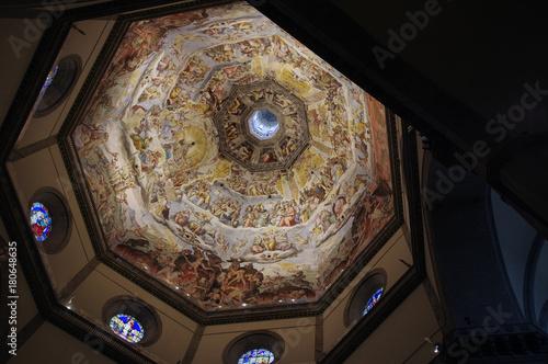 Staande foto Florence Brunelleschi Dome inside view