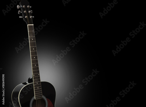 Acoustic Guitar Isolated On A Black Background Buy Photos Ap