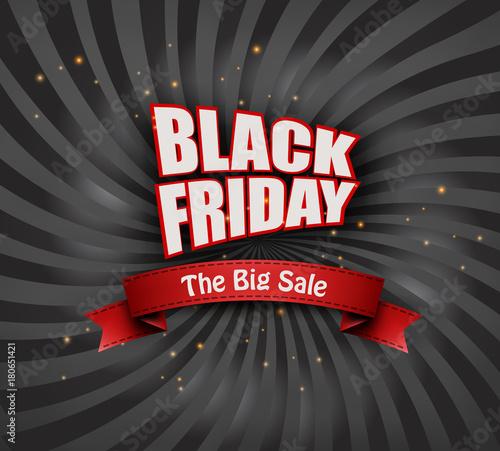Black Friday sale background. Vector