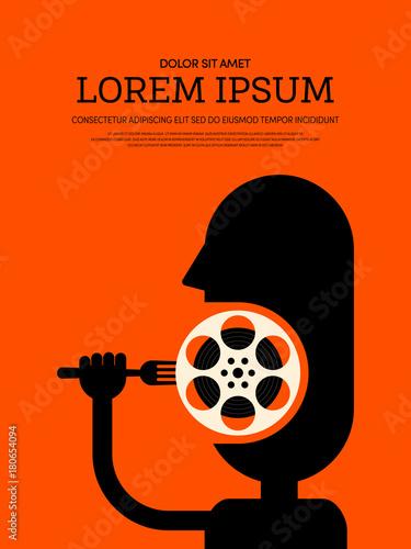 Fotobehang Vintage Poster Movie and film modern retro vintage poster background