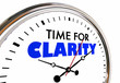Time for Clarity Clock Clear Communication Message 3d Illustration