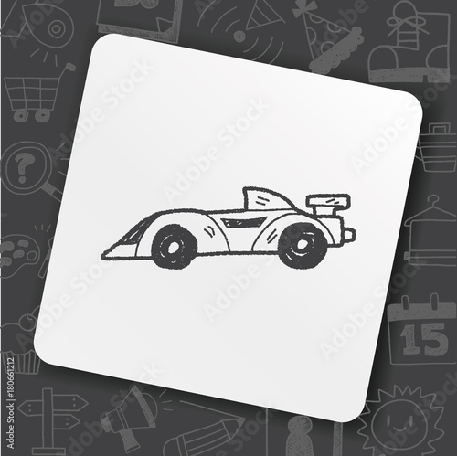 Foto op Plexiglas F1 racing doodle