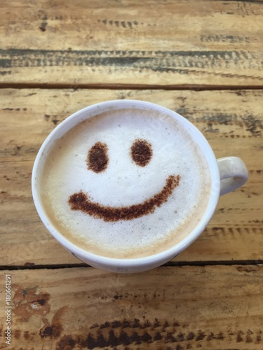 Papiers peints Cafe smiling hot coffee