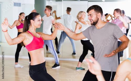 People dancing at dance class