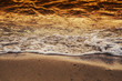 Quadro Soft and clean white wave of the sea on the sandy beach for summer nature background