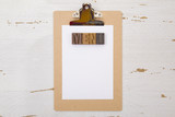Simple Menu on a Wood Clipboard - 180669616