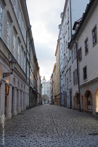 Fotobehang Smalle straatjes Prague