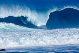 déferlante bleue à l'Etang-Salé-les-Bains, île de la Réunion  - 180684264