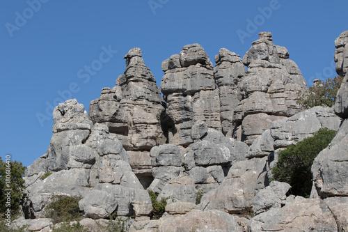 Fotobehang Donkergrijs Natural Reserve El Torcal, Antequera Spain