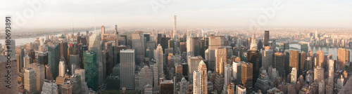 Poster New York panorama skyline new york
