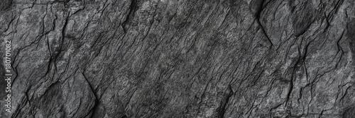 Leinwandbild Motiv horizontal black stone texture for pattern and background