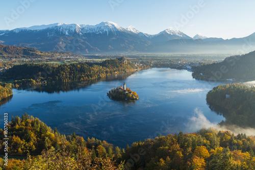 Early autumn morning at lake Bled © Neven Krcmarek