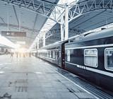 Passengers on the railway station platform. - 180706610