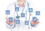 doctor displaying medical interface data