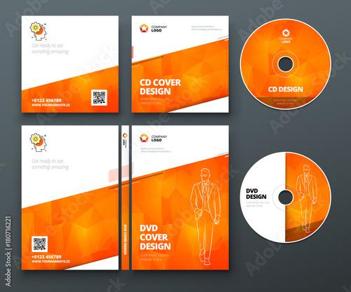 cd envelope dvd case design orange corporate business template for