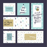 Christmas and New Year greeting cards collection. Flat design vector illustration concepts for greeting cards, web banner, flayer brochure, party invitation card. - 180722229