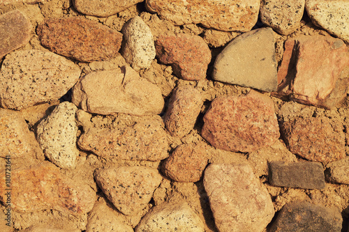 Poster Stenen Gray stone wall background.
