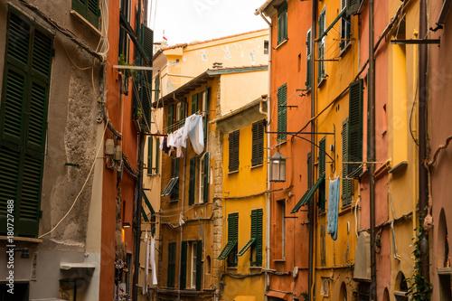 Centro storico di Portovenere, La Spezia, Golfo dei Poeti, Liguria, Italia
