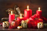 christmas advent candles lantern decoration - 180732410
