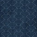 Sashiko seamless indigo dye pattern with traditional white Japanese embroidery - 180733835