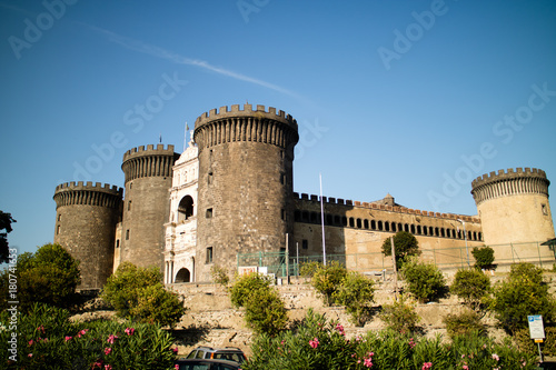 Aluminium Napels angioino castle near the port of naples