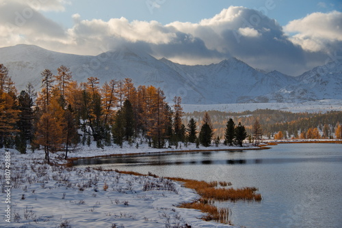 Fotobehang Grijs Autumn in the Altai Mountains