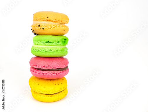 Foto op Canvas Macarons colorful macaroons