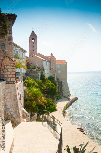 Foto op Canvas Wit Old town on the island of Rab, Croatia