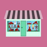 illustration of toy shop