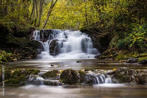 Waterfall in Dolzyca, Bieszczady, Poland - 180760413