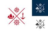 Ship Center Logo Template Design
