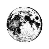 planets in solar system. moon and astrology. astronomical galaxy space. orbit or circle. engraved hand drawn in old sketch, vintage style for label.