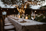 Fototapety A Dreamy Outdoor Dinner Setting