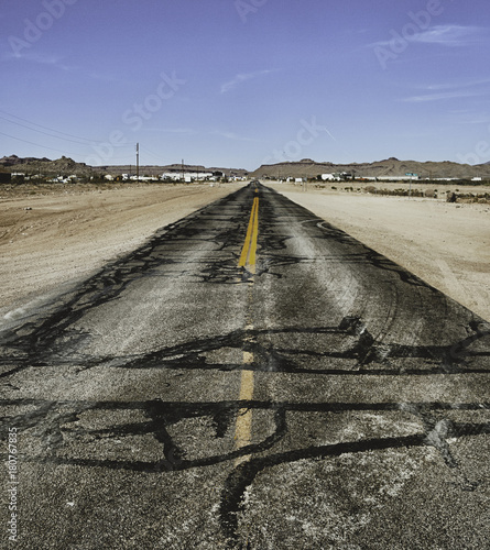 Fotobehang Arizona Damaged road in Arizona