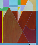 An abstract painting; linear and geometric with triangles. - 180768870