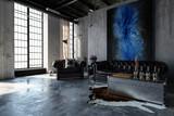 Beton Loft in Fabrikhalle mit Wohnzimmer