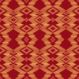 geometric  seamless vector pattern, abstract  background with ethnic elements
